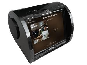 """Kitchen Entertainment, Counter-top Design, Hi-Fi Speakers, Audio Book, 15K+ Radio Stations, Streaming Videos, Movies, Music, Auto Wi-Fi, Plug & Play, Social Media, Recipes, 8""""Touch Panel, NC820-BLACK"""
