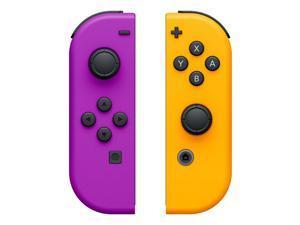 Nintendo Switch Left and Right Joy-Con Controllers - Neon Purple/Neon Orange
