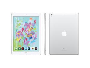 Apple - iPad 6th gen with Wi-Fi + Cellular - 128GB (Unlocked) - Silver