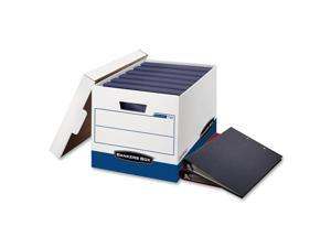 Bankers Box Banker Box, For Binder, Wht/Blu, PK12 73301