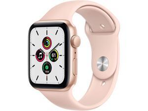 Apple Watch SE 44mm Gold Aluminum Case with Pink Sand Sport Band GPS MYDR2LL/A
