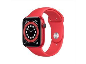 Apple Watch Series 6 44mm RED Aluminum Case RED Sport Band GPS + Cellular M07K3LL/A