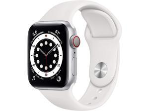 Apple Watch Series 6 40mm Silver Aluminum Case with White Sport Band GPS + Cellular M02N3LL/A