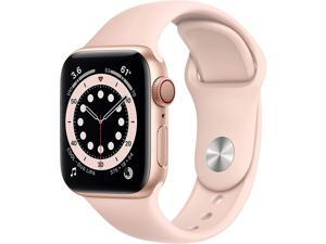Apple Watch Series 6 40mm Gold Aluminum Case with Pink Sand Band GPS + Cellular M02P3LL/A