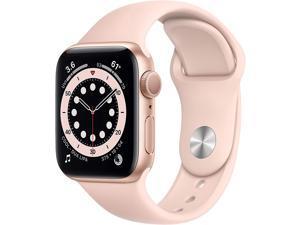 Apple Watch Series 6 40mm Gold Aluminum Case with Pink Sand Sport Band GPS MG123LL/A