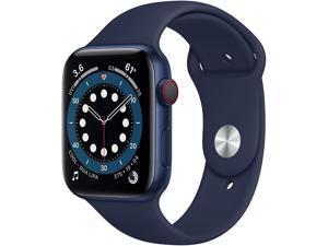 Apple Watch Series 6 44mm Blue Aluminum Case with Deep Navy Sport Band GPS + Cellular M07J3LL/A