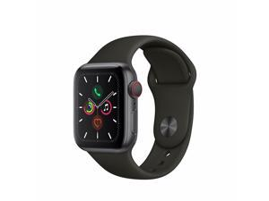 Apple Watch Series 5 40mm GPS + Cellular Space Gray Aluminum Case Black Sport Band MWWQ2LL/A