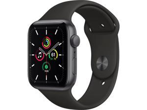 Apple Watch SE (GPS) 44mm Space Gray Aluminum Case with Black Sport Band - Space Gray MYDT2LL/A
