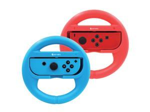 Ematic Nintendo Switch Steering Wheel 2-Pack - Red, Blue NSWJ399