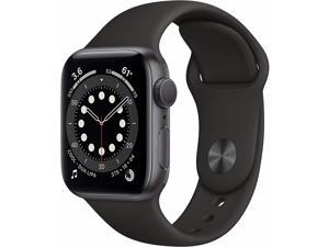 Apple Watch Series 6 40mm Space Gray Aluminum Case Black Sport Band MG133LL/A