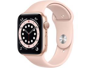Apple Watch Series 6 44mm Gold Aluminum Case with Pink Sand Sport Band GPS M00E3LL/A