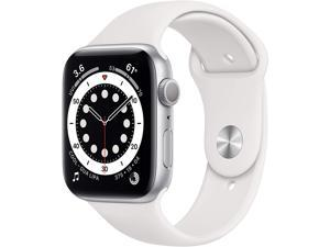 Apple Watch Series 6 44mm Silver Aluminium Case with White Sport Band GPS M00D3LL/A