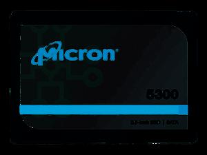 """Micron 5300 PRO 7.68TB SATA 2.5"""" 3D TLC SSD - MTFDDAK7T6TDS-1AW1ZABYY"""