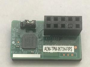 SuperMicro AOM-TPM-9670H-FIPS Horizontal TPM 2.0 Module (Non-Provisioned)