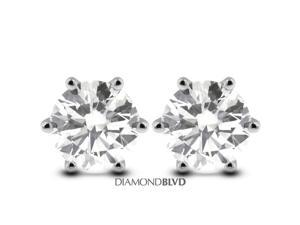 88675db1f 0.75 CT H-SI3 VG Round Earth Mined Diamonds 14K 6-Prong Classic Studs