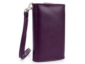 Kroo Purple Clutch Wristlet Wallet for Smartphone up to 4 Inch