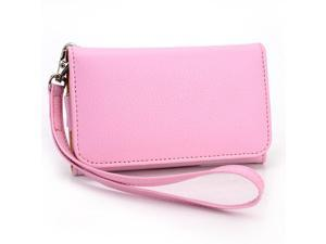 Kroo Pink Clutch Wristlet Wallet for Smartphone up to 4 Inch