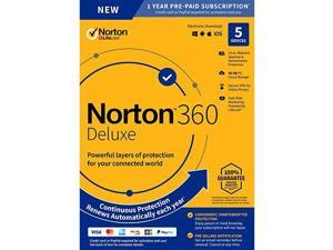 Norton 360 Deluxe for 5 Devices (1 Year)