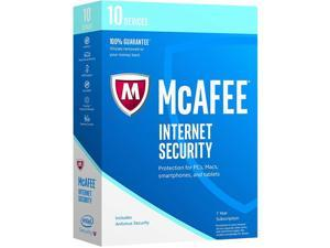 McAfee Internet Security 10 Device Bilingual Retail (1 Year)