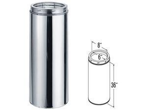 """DURAVENT 6DT-36SSCF DuraTech 36"""" Chimney Pipe - SS (CF)"""