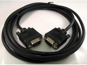 10FT 10 FT 15 PIN SVGA SUPER VGA Monitor M Male 2 Male Cable black CORD FOR PC