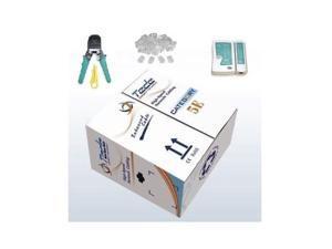 1000' Ft CAT5E UTP Solid LAN Network Cable Network Tool Kit-Tester+Crimper+Rj45