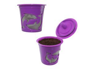 2-Pack Keurig 2.0 K-cups Reusable Refillable K-cup Filter Pod for Keurig 2.0 & 1.0 Brewers