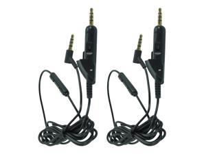 2-Pack 3.5mm Mic Audio Cable Cord For Bose QuietComfort 15 QC 15 Headphones