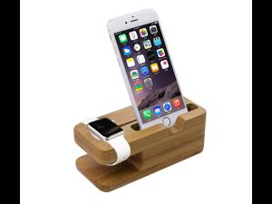 Xtenzi Bamboo Wood Docking Station or Apple Watch & iPhone