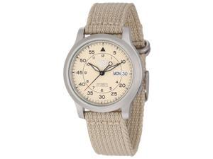 Seiko Men's SNK803 Seiko 5 Automatic Stainless Steel Watch with Beige Canvas Band