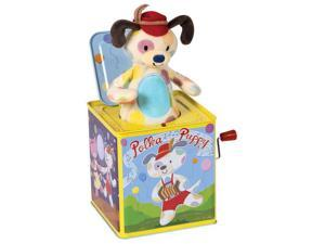 Polka Puppy Jack-in-the-Box - Toddler Toy by Schylling (PUPJB)
