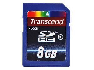 8GB Transcend Class 10 SD SDHC Flash Memory Card