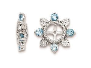 Sterling Silver Swiss Blue Topaz Earring Jacket
