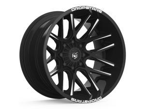 20 Inch Dropstars 654BM Concave 20x10 5x4.5/5x5 -25 Black/Milled Wheel Rim