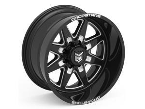 "20"" Inch Dropstars 655BM 20x12 8x170 -44mm Black/Milled Wheel Rim"