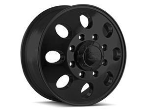 "Ion 167 Dually Front 17x6.5 8x6.5"" +125.3mm Matte Black Wheel Rim 17"" Inch"