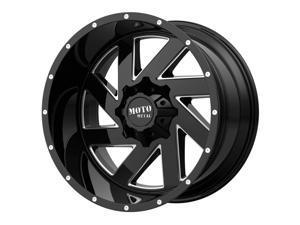 "Moto Metal MO988 Melee 22x12 5x5""/5x5.5"" -44mm Black/Milled Wheel Rim 22"" Inch"