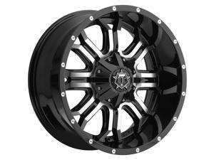 TIS 535MB Machined Black 17x9 5x114.3 / 5x127 -12mm (535MB-7900512)