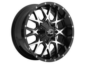 "20"" Inch Dropstars 645MB 20x9 5x5.5""/5x150 +18mm Black/Machined Wheel Rim"
