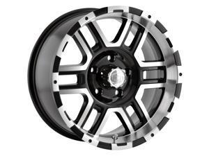 "Ion 179 17x8 5x4.5"" +10mm Black/Machined Wheel Rim 17"" Inch"