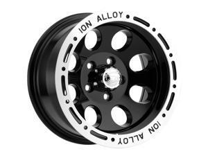 "Ion 174 15x8 5x4.75"" -27mm Black Wheel Rim 15"" Inch"