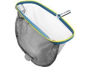 """S-Union Pool Skimmer Net for Cleaning, Heavy Duty 18"""" Double Layer Fine Mesh Deep Bag Catcher, Leaf Skimmer Net Aluminum Frame for Above Ground Pool, Inflatable Pool, Hot Tub, Spa & Fountain, No Pole"""
