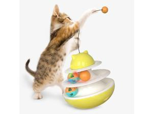 Tumbler Cat Treat Self-Playing Puzzle Toy Treat Pet Interactive Food Dispenser