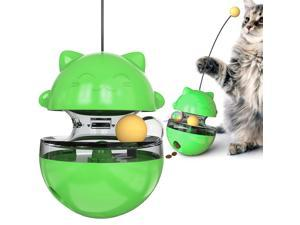 Cat Toy Ball Cat Turntable Interactive Toy Leaking Food Ball Kitten Tumbler Ball