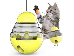 Pet Tumbler Ball, Funny Cat Stick Automatic Food Leaking Ball, Treat Interactive Dispenser Toy, Easy To Clean