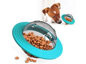 Dog Treat Ball, Food Dispensing Puzzle Feeder Interactive Toy for Medium Large Dog Chasing Playing Chewing, Automative Food Leaking Ball