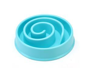 Pet Slow Food Bowl Dog Anti-mite Bowl Pets Bowl Coral Shape Healthy Durable Non-slip Bowl Products for Cat Dogs Small Size Blue