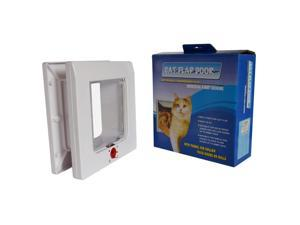 Universal Cat Flap, Manual 4 Way Locking Cat Flap, Easy Installation, Flexible Fitting Locking, Energy Efficient Cat Door
