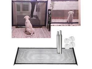 Pet Safety Mesh Gate, Portable Folding Dog Cat Guard, Stair Fence, Pets Isolation Fence, Toddler Baby Safe Enclosure Net, Black