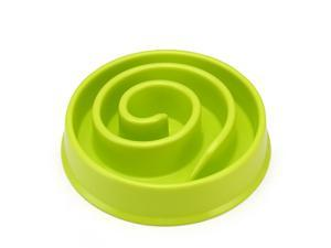 Pet Slow Food Bowl Dog Anti-mite Bowl Pets Bowl Coral Shape Healthy Durable Non-slip Bowl Products for Cat Dogs Small Size Green
